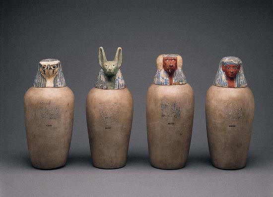 Real Egyptian Canopic Jars