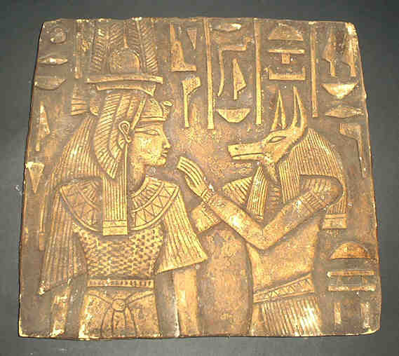God anubis nefer relief