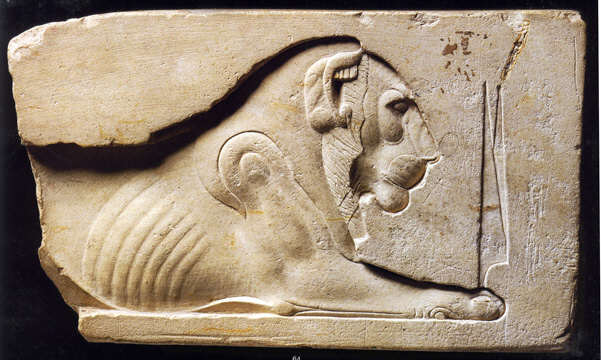 Real ancient egyptian relief carving and stelae